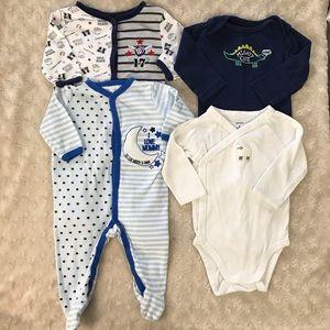 Baby Boy Sleeper & Bodysuit Bundle 3-6 Months